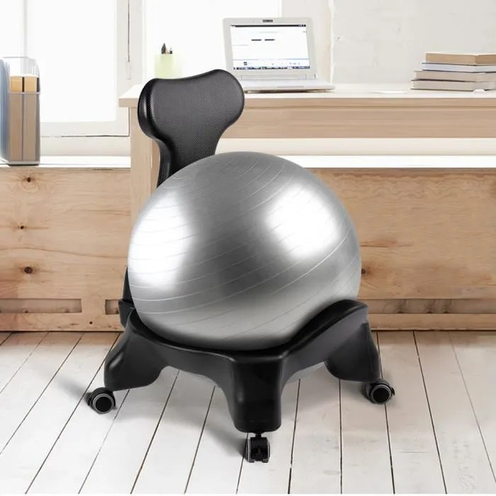 ballon suisse gym ball onetwofit chaise a balle d equilibre d exercice de