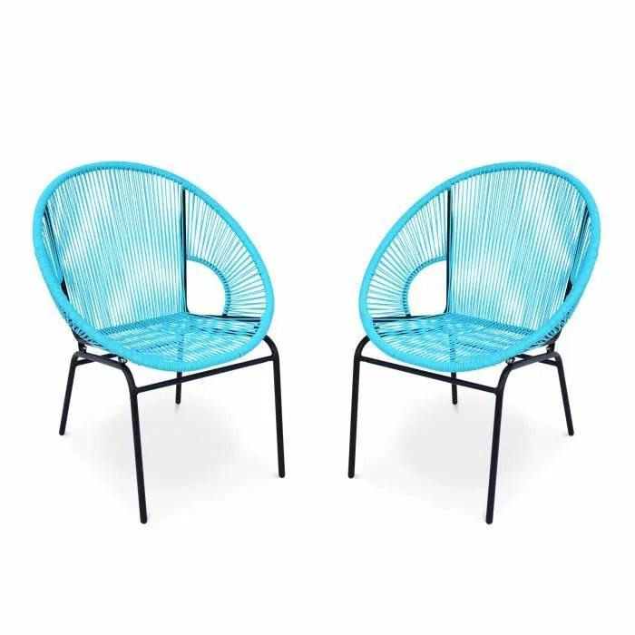 fauteuil jardin 2 fauteuils design mexico turquoise fauteuils