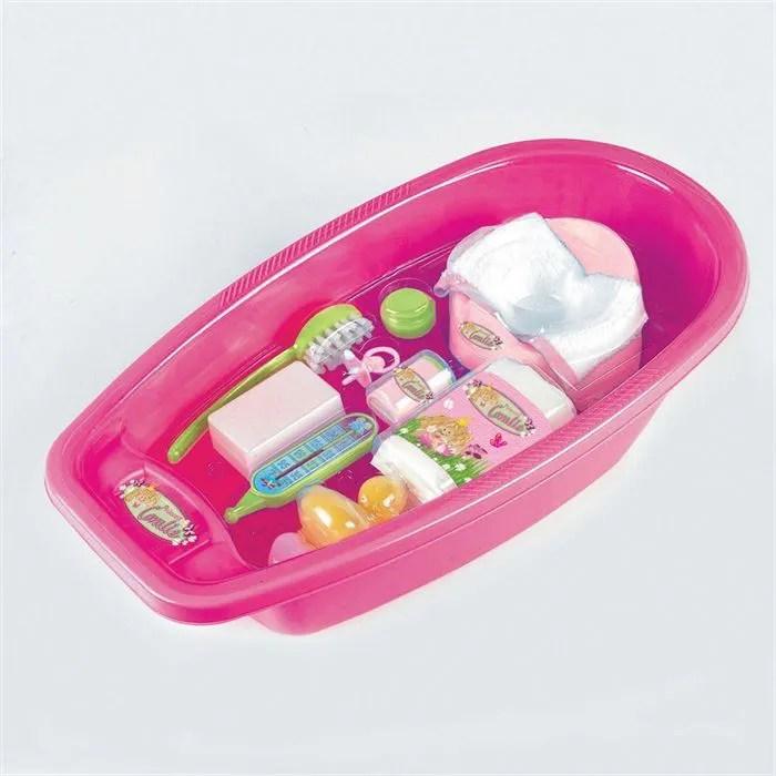 Baignoire Pour Poupes Avec Accessoires Achat Vente