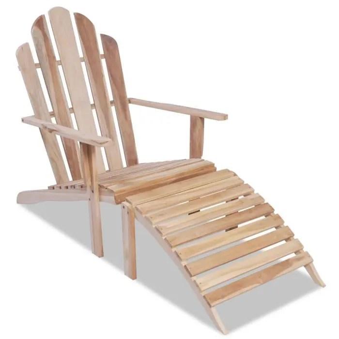 chaises longue adirondack en teck