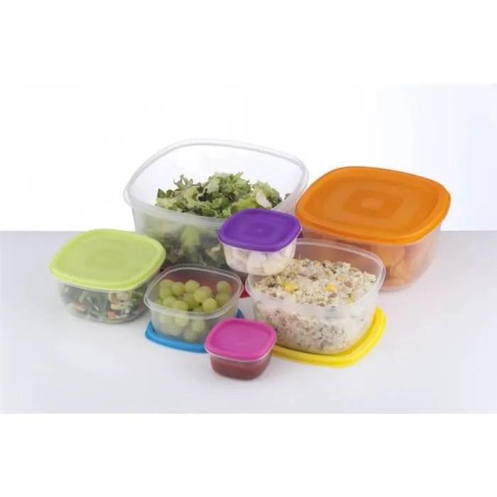 7 conteneurs alimentaire stockage en plastique resistant au lave vaisselle