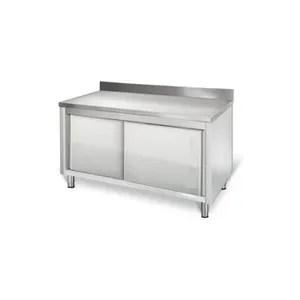 buffet de cuisine armoire de travail professionnelle 160x60cm armo