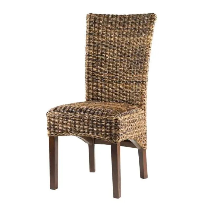 chaise design en rotin liane