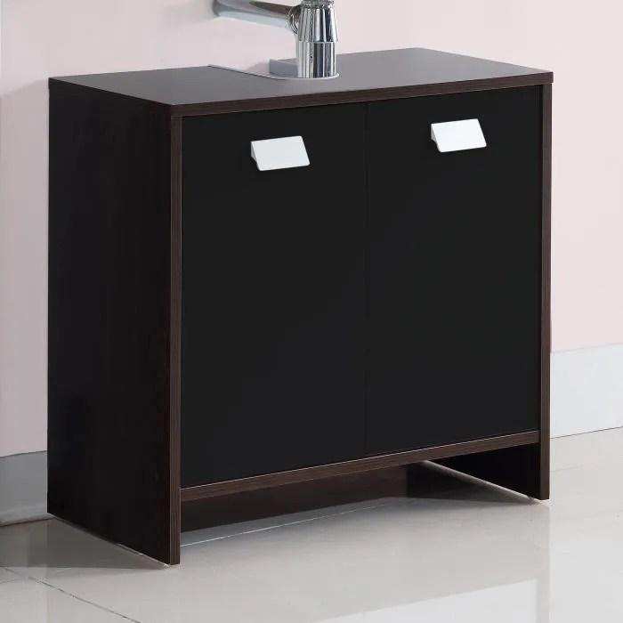 meuble vasque plan top meuble sous vasque l 60 cm decor wenge et