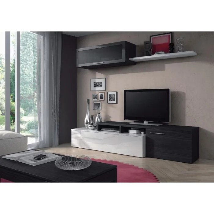 meuble tv nexus ensemble salon contemporain melamine