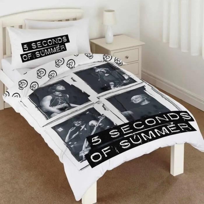 5 seconds of summer lots de housse de couette unique couvre lit avec taies d oreiller pour enfants