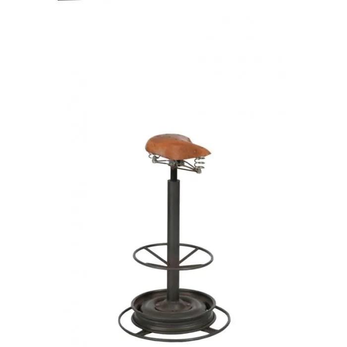 chaise chaise de bar industrielle forme selle pieds rond