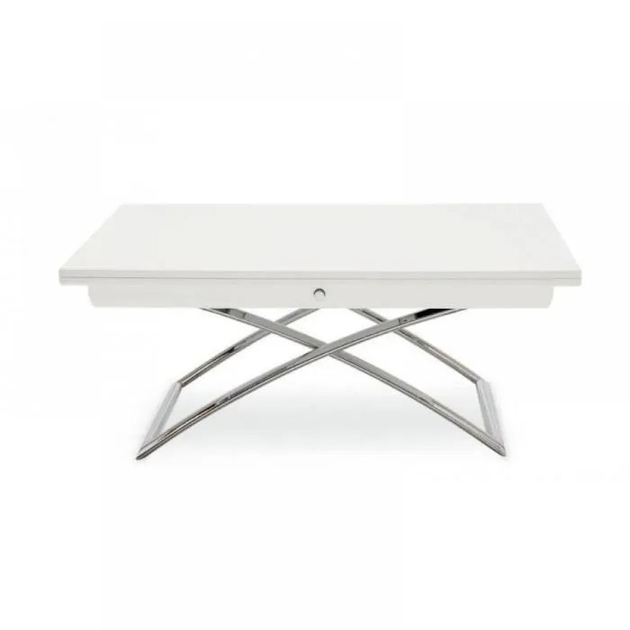 Table Relevable Extensible MAGIC J Laque Blanche Achat