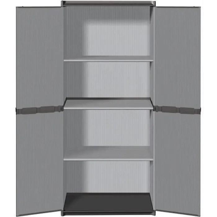 tood armoire de rangement haute en resine 3 tablettes