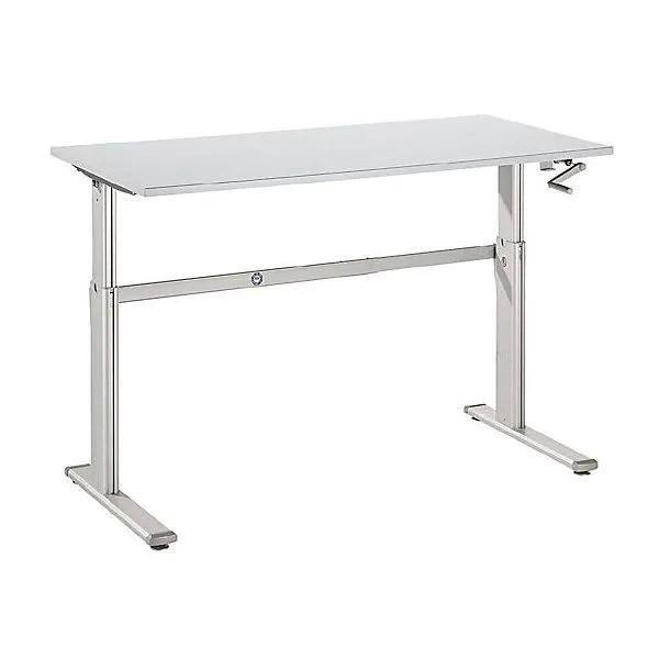 upliner bureau sur pieds a hauteur reglable manuellement 725 1185 mm l x p 1600 x 800 mm plateau blanc bureau bureaux