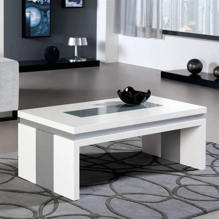 table basse relevable concetto en laque blanc