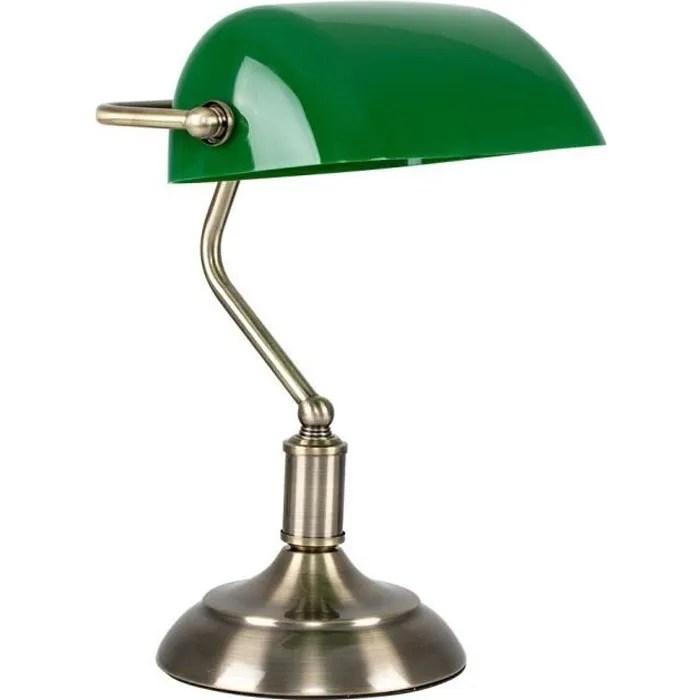 lampe banquier notaire de chevet bureau lampe a poser laiton vieille et vert