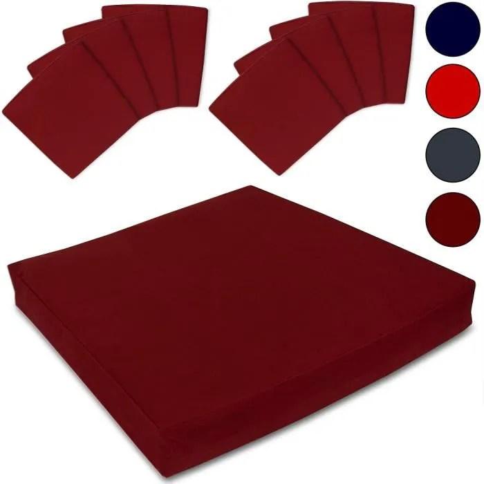 housse meuble jardin set de 8 housses de siege pour coussins de chaise