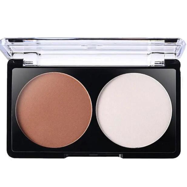 palette de maquillage maquillage 2 couleur bronzer surligneur poudre pal