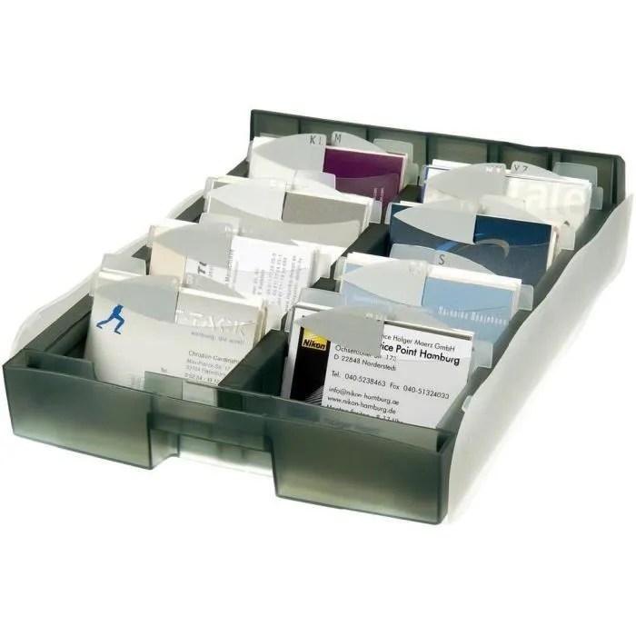 Box De Rangement Pour Carte De Visite Gris HAN A8 Achat