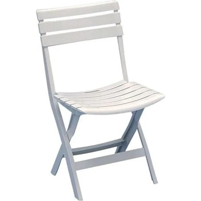 chaise de jardin pliante birki blanc