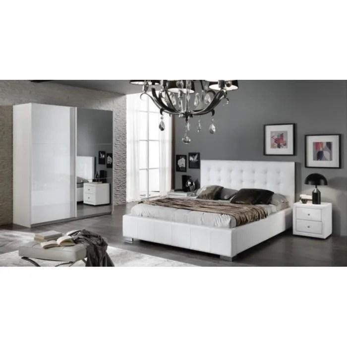 CHAMBRE A COUCHER Moderne Laqu Blanc Brillant Achat