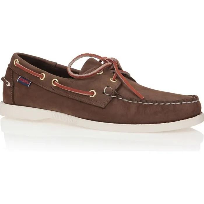sebago bateau docksides cuir chaussures homme