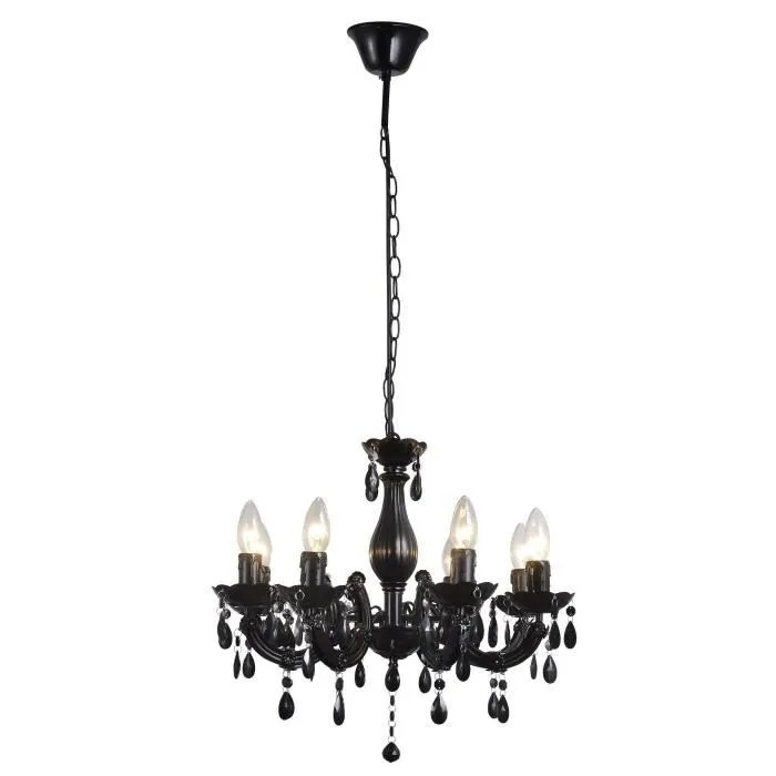 Bach Lustre Lumires Noir Cm Hauteur With Suspension