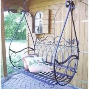 Balancelle Jardin Fer Forg 110 X 110 X 55 Cm Achat