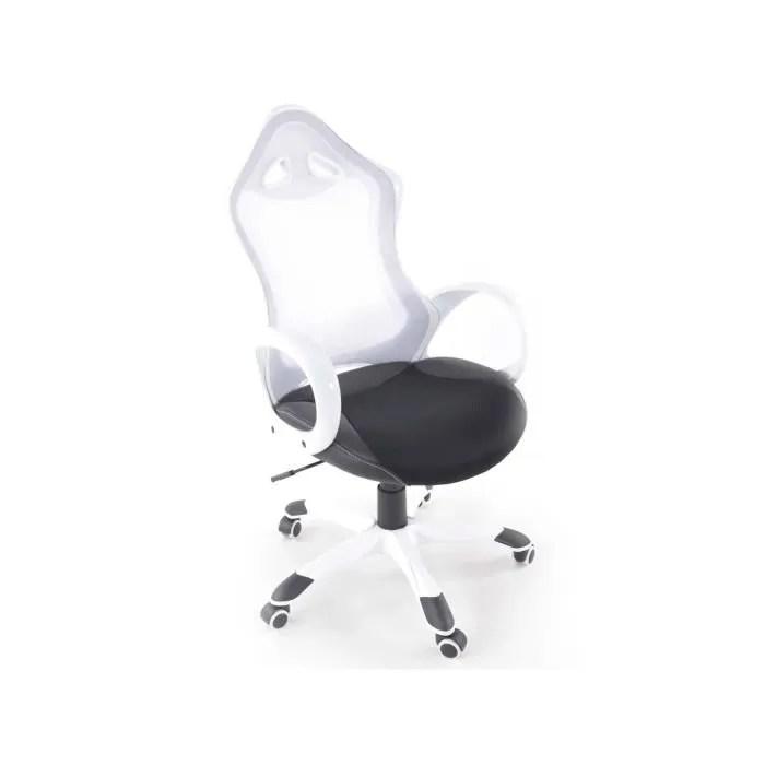 chaise de bureau siege baquet de bureau cincinnati en tissus blanc