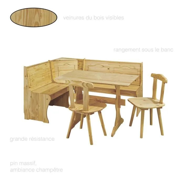 salle a manger complete table de cuisine 2 chaises du cuisines 1 banc bois angle ensemble table et chaises pin massif naturel