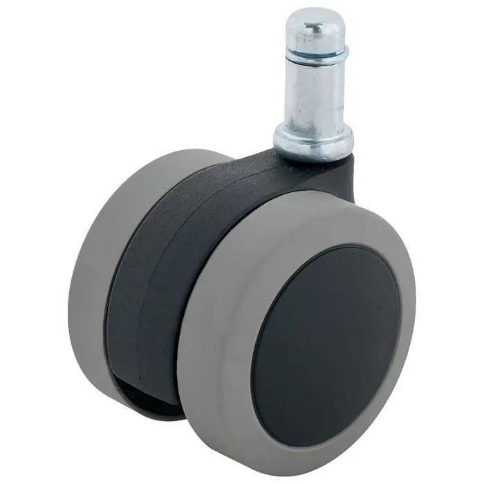 enjoy roulette pour chaise de bureau a domicile 2 piece de rechange polyurethane sans danger pour les parquets gris 5005bug e