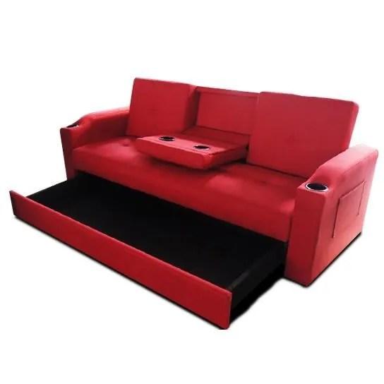 canape sofa divan canape lit bar avec tiroir rouge