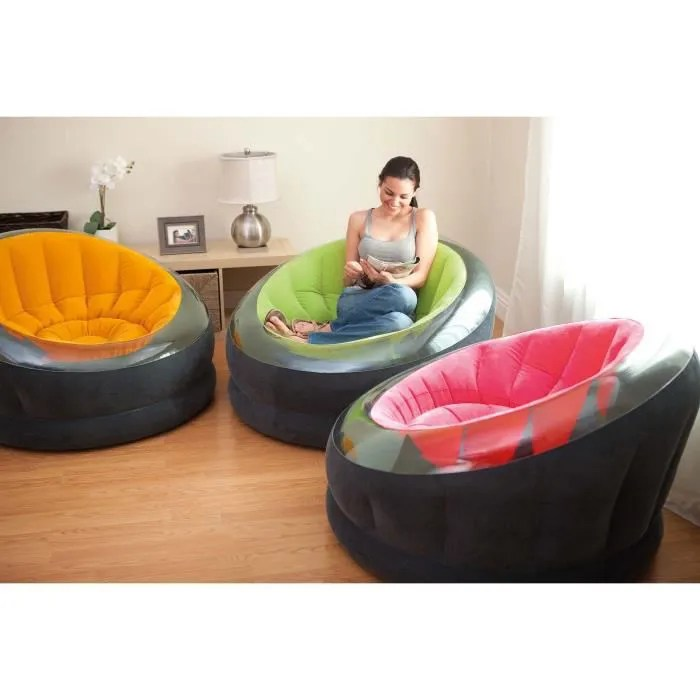 Fauteuil Gonflable Onyx Coloris Assorties Achat