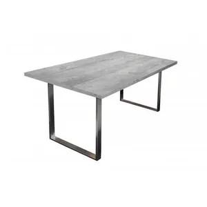 Table A Manger Bois Et Beton Achat Vente Table A