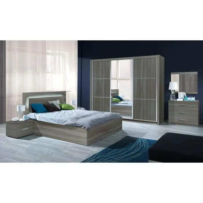 chambre a coucher complete adulte aurelio lit armoire chevets commode meuble design en
