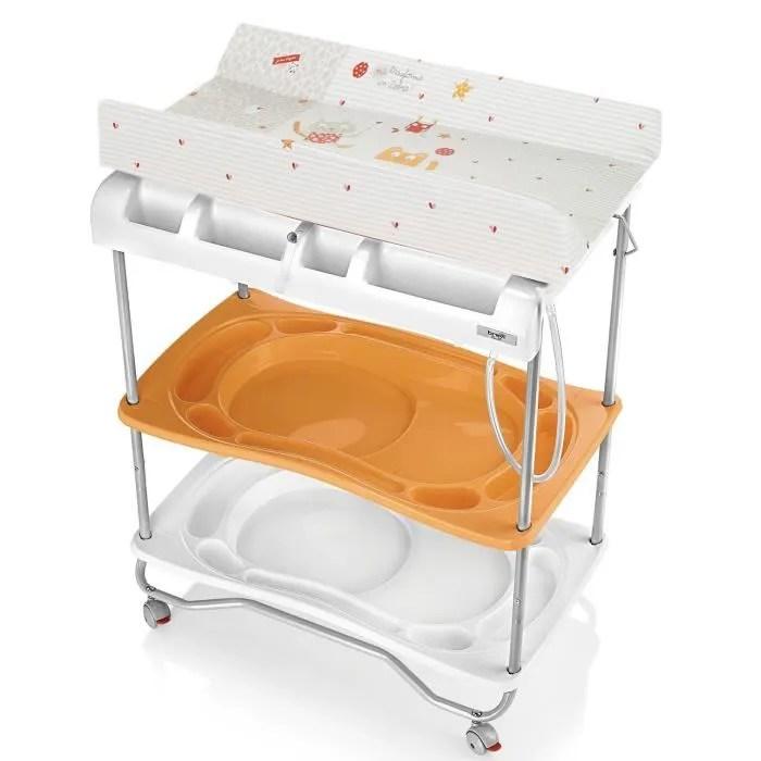 BREVI Table Langer Atlantis Orange Orange Blanc Et