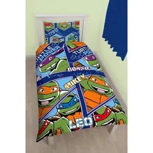 housse de couette seule parure de lit tortues ninja