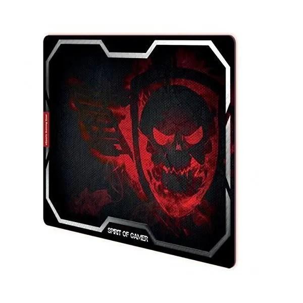 SPIRIT OF GAMER Tapis De Souris Gamer Smokey Skull Rouge
