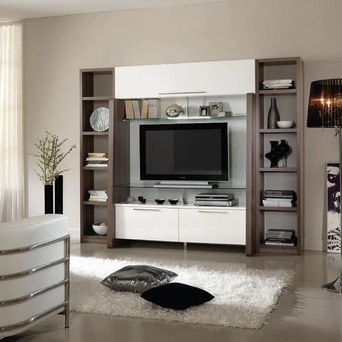 Meuble Mural Tv Design Tetris Achat Vente Meuble Tv