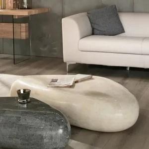 table basse moderne en pierre fossile beth