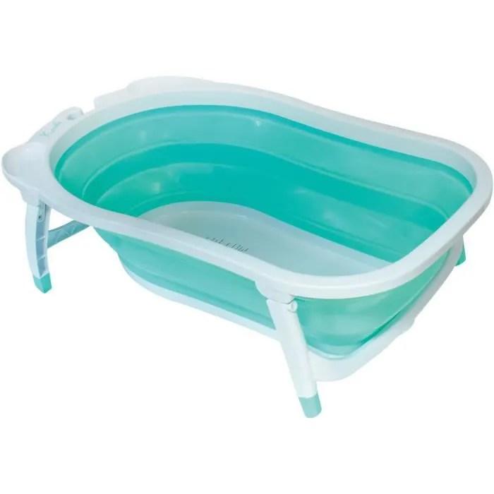 babysun baignoire pliable vert d eau