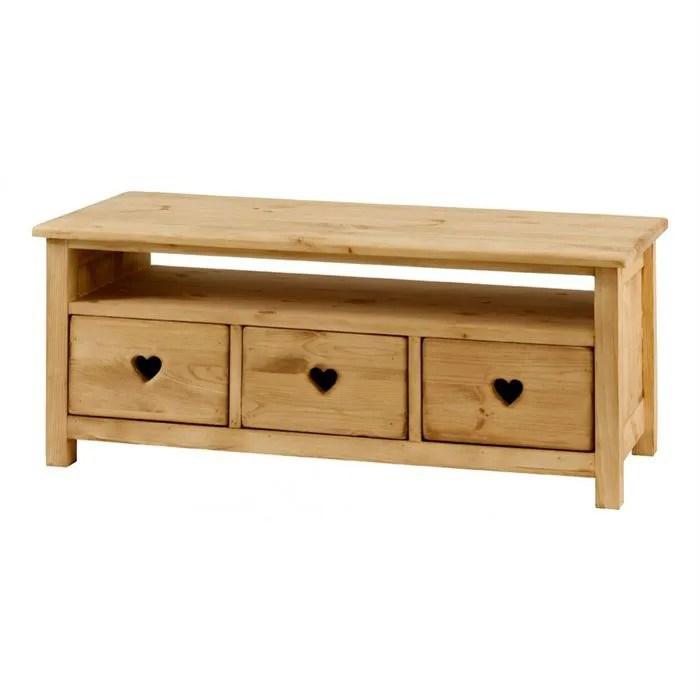 Table Basse Rustique Avec Coeur 3 Tiroirs 1 Niche Achat