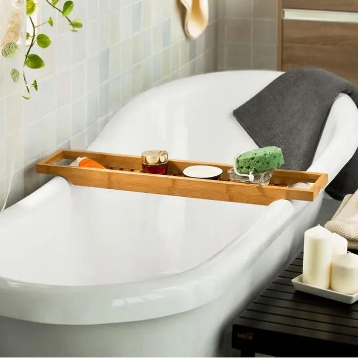 colonne armoire wc pont de baignoire en bambou porte savon et gel dou