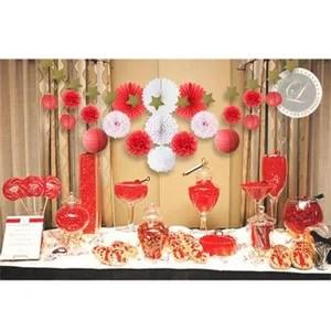 Decoration Anniversaire Rouge Et Blanc Achat Vente Pas