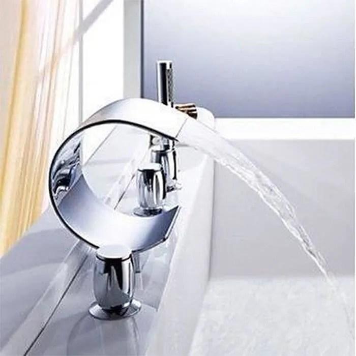 robinetterie sdb mitigeur robinet luxe cascade baignoire baignoire