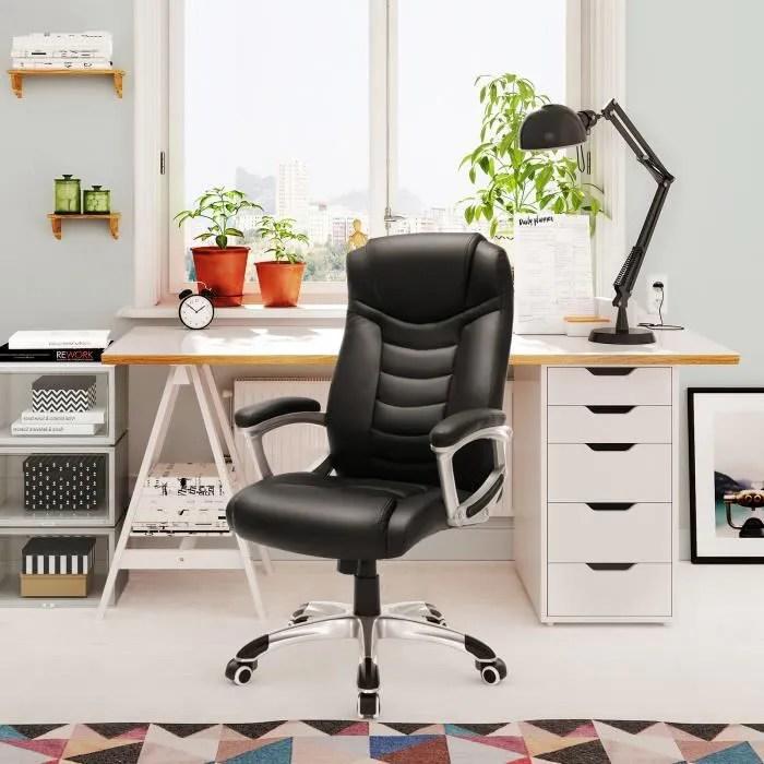 songmics chaise de bureau fauteuil de bureau haut