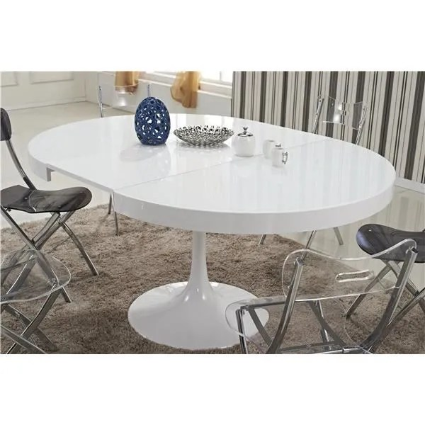 table ronde extensible tulipe blanche