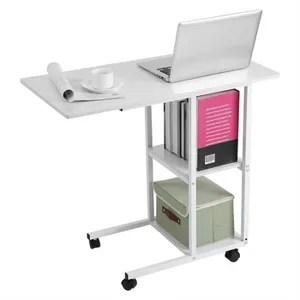 bureau d ordinateur portable a domicile mobile blanc