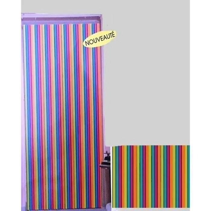rideau de porte lanieres plastiques multicolore largeur 90 cm x longueur 220 cm 55204951