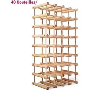 meuble range bouteille etagere a vin casier a 40 bouteilles en bois de pi