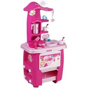 dinette cuisine cuisiniere electronique pour enfant barbie