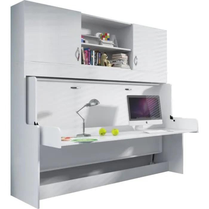 Bureau Amovible Avec Lit Combin Escamotable 90x20 Achat