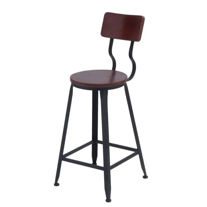 tabouret de bar chaise de bar industriel moderne 34 34 95cm