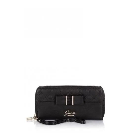 Portefeuille GUESS Dolled Up Large Zip Around Wallet Noir